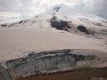 """Вид на ледник Ирик и Эльбрус с """"Рыжего бугра"""""""