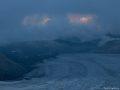 """Вид с """"Рыжего бугра"""" на ледник Джикаугенкез"""