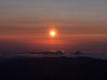 Рассвет. Фото сделано со склона Эльбруса.