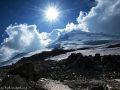 Вид на восточную вершину с высоты 4000 м.