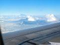 Вид на Эльбрус из самолета