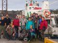 Наша команда перед отплытием с Соловков на материк
