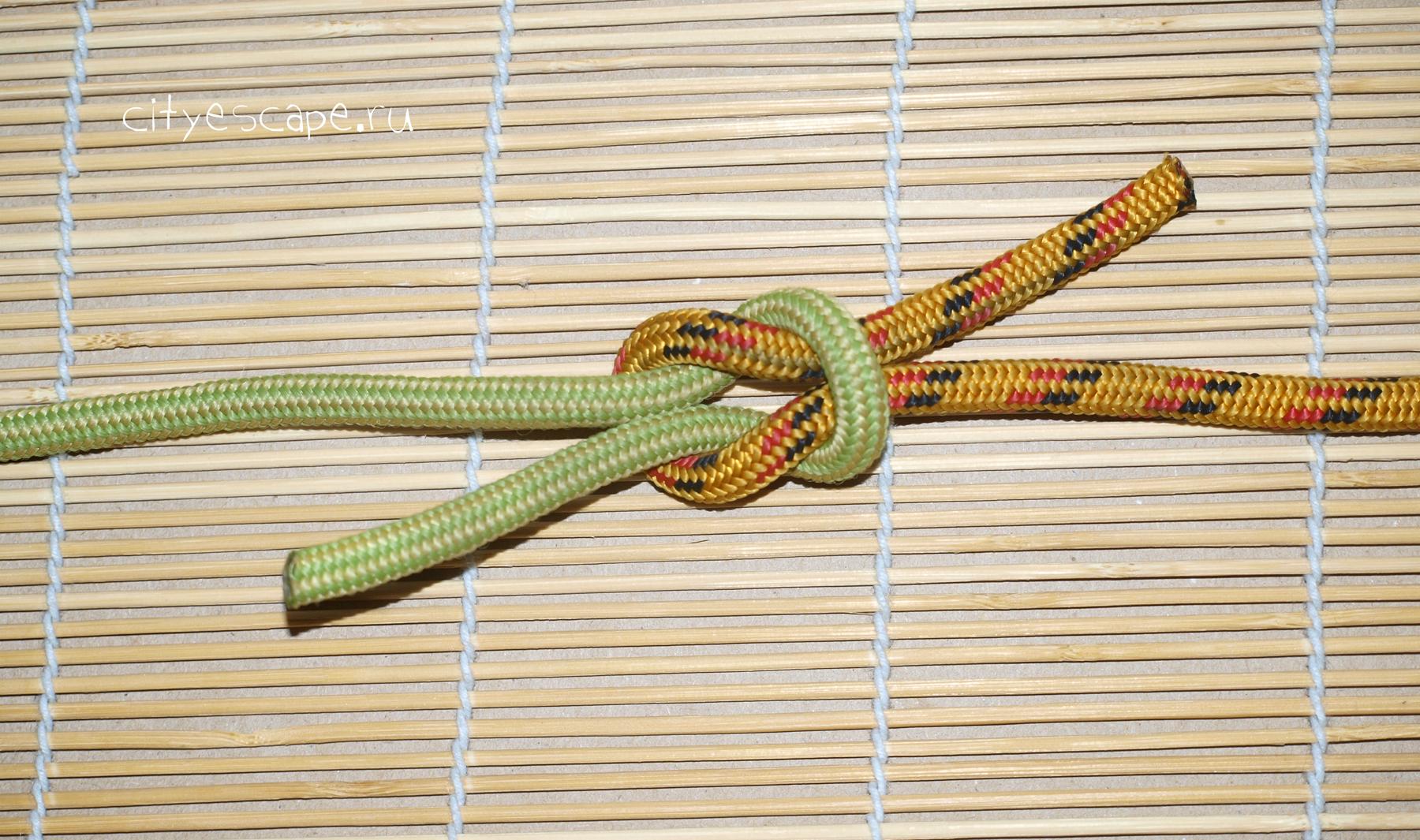 Правильно завязать веревку