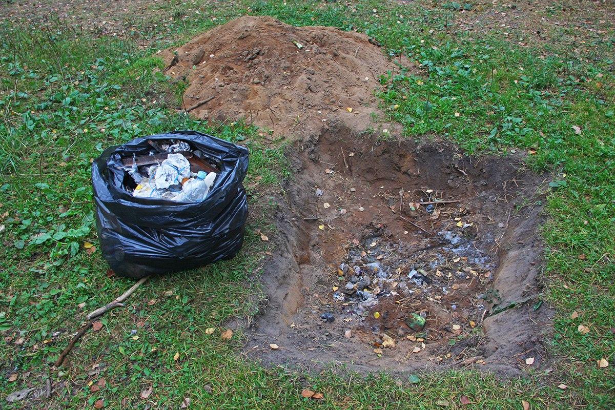 Об утилизации мусора в походных условиях